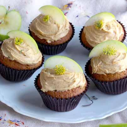 Cupcakes pommes vertes et cacahuètes