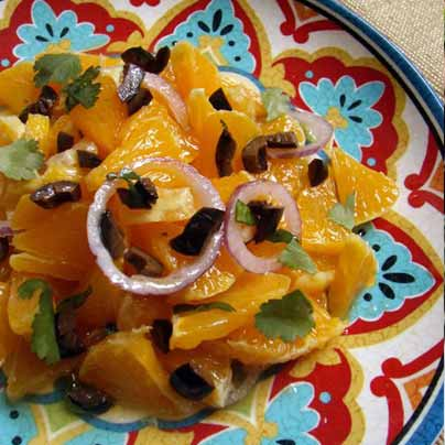 Salade d'oranges épicée
