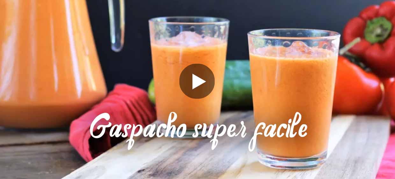 Recette de gaspacho en vidéo