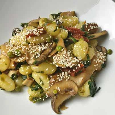 Gnocchis et légumes poêlés