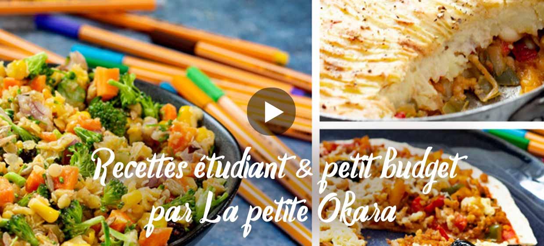 Vidéo de recettes spécial étudiants et petit budget, par La petite Okara