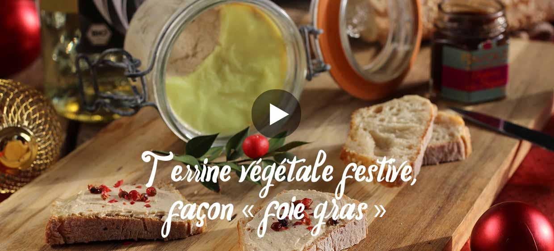 Terrine végétale festive, façon foie gras
