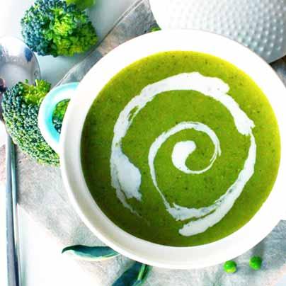 Recette soupe brocoli petits pois