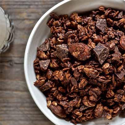 Recette granola au chocolat