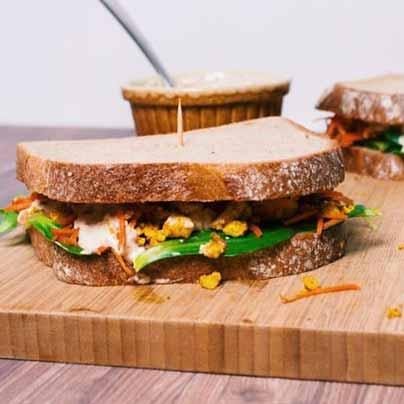 Recette sandwich au tofu brouillé