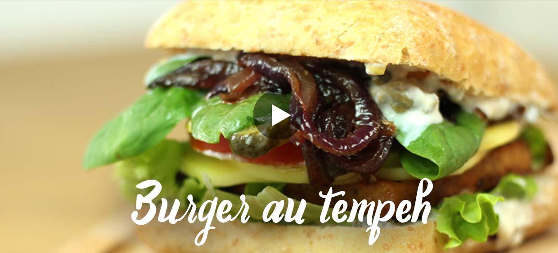 Recette burger au tempeh en vidéo