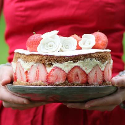 Recette fraisier vegan