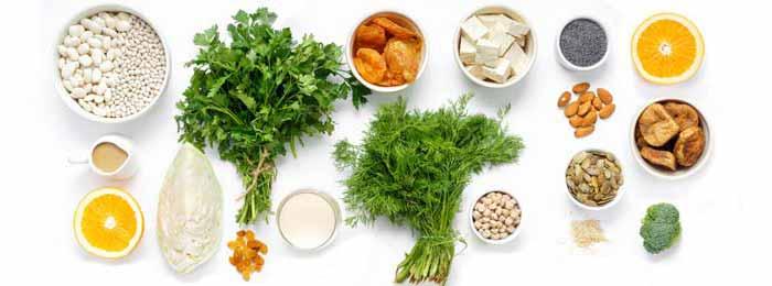 Aliments végétaux sources de calcium