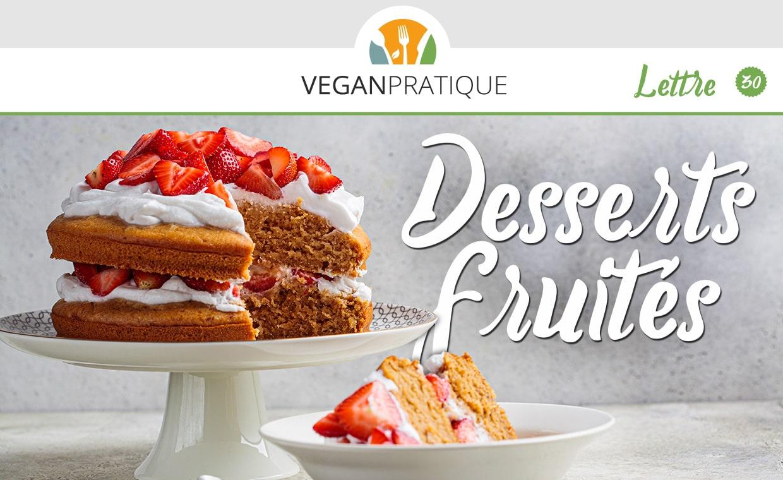 Recette de desserts vegan fruités