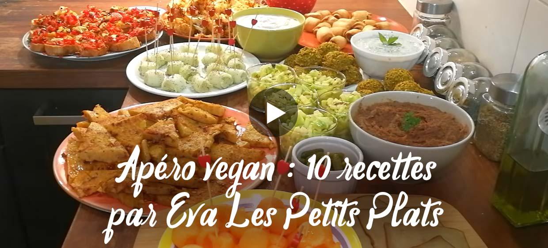 10 recettes d'apéro vegan en vidéo